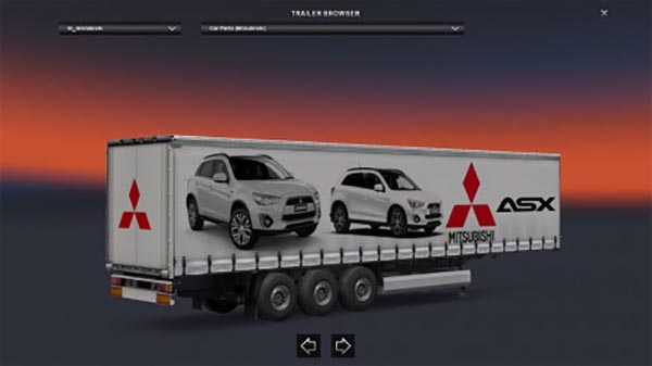Mitsubishi ASX Trailer Skin