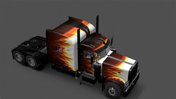 Peterbilt 389 Flame Skin
