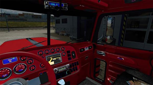 Peterbilt 389 Red Interior