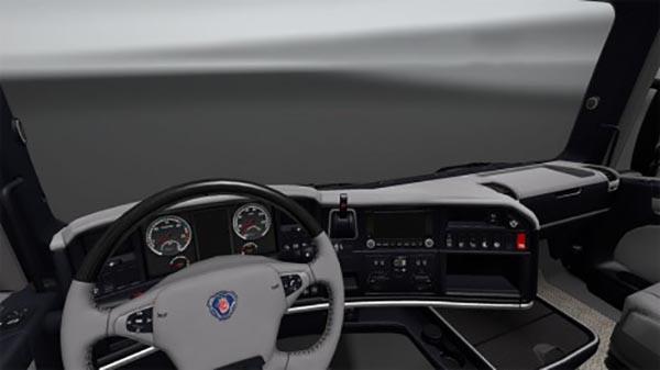 Scania RJL and Streamline Blue Grey Interior