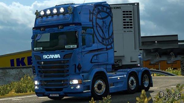 Scania RS RJL Blue V8 Skin