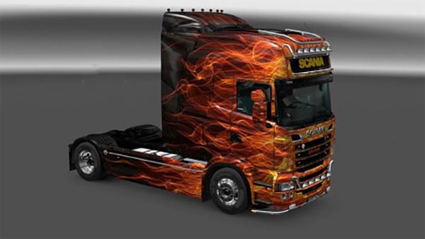 Scania RS RJL Fire Skin