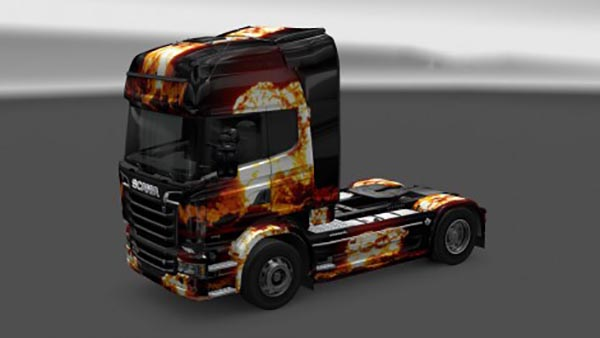 Scania Streamline Flame Skin