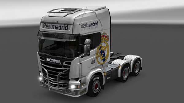 Scania Streamline Real Madrid Skin