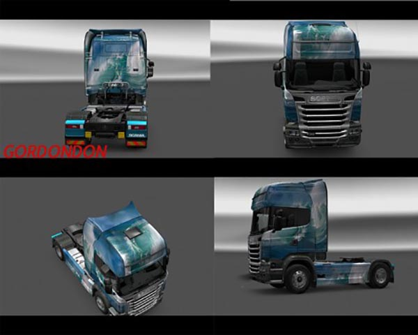 Scania Streamline Sea Wave Skin