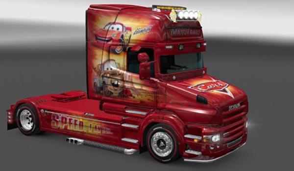 Scania T Manutrans Cars Skin