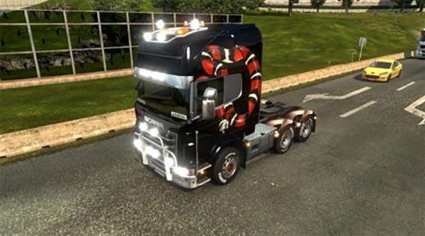 Snakes Skin For Scania Trucks