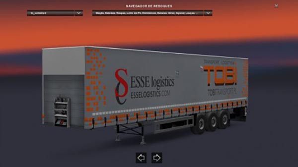 Container Schmitz Tobi Transport Trailers Pack