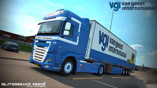 DAF XF Euro 6 Van Geest International Combo Pack v 2.0