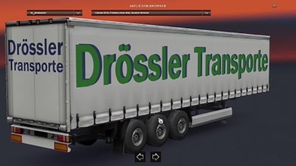 Drossler Transporte Trailer