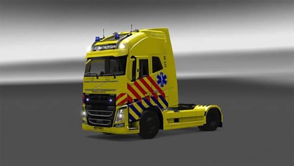 Dutch Ambulance skin for Volvo 2013 Ohaha