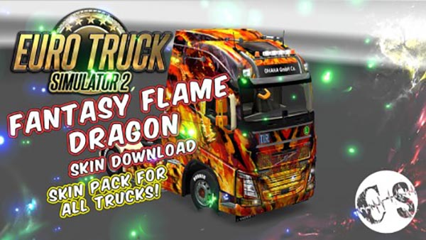 Fantasy Flame Dragon Skin Pack for All Trucks