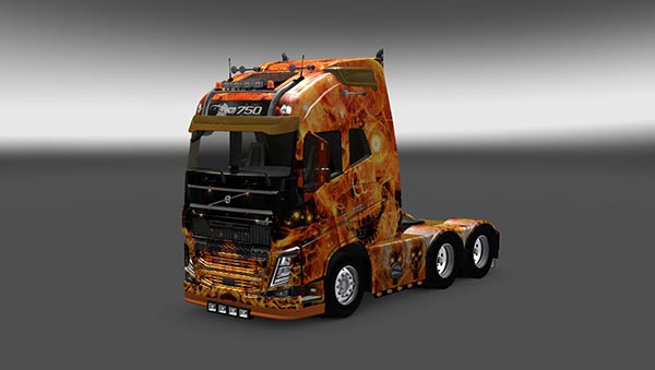 Fire Skull Skin Pack for All Trucks