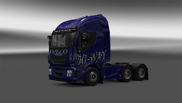 Iveco Hi-Way Blue Carbon Skin