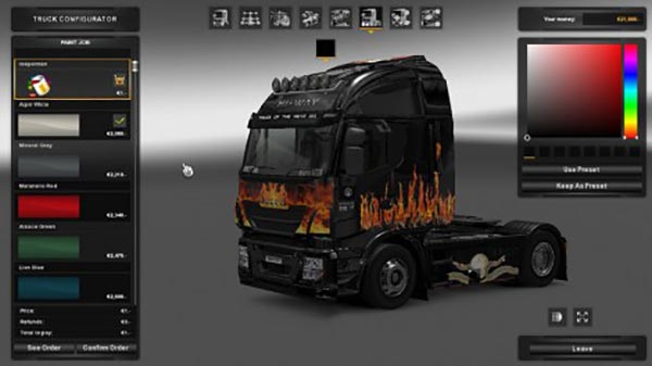 Iveco Hi Way Reeper Design and Flames Skin
