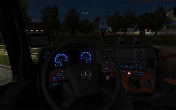 Mercedes Ben MPIV Blue Dashboard