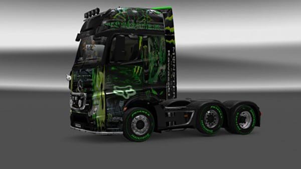 Mercedes MP4 Monster Energy Kawasaki Skin