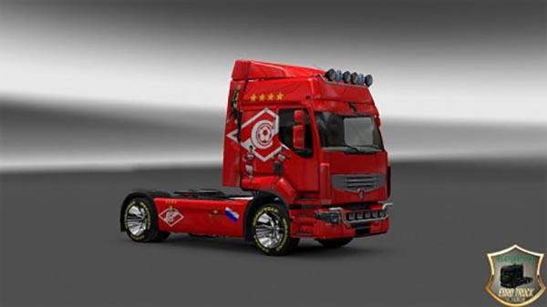 Renault Premium FC Spartak Moscow v1 Skin