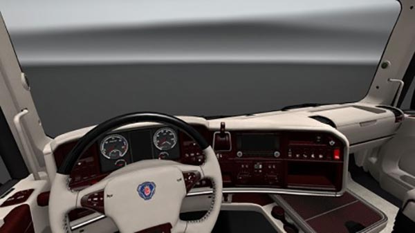 Scania RJL T Streamline V8 White Lux Interior