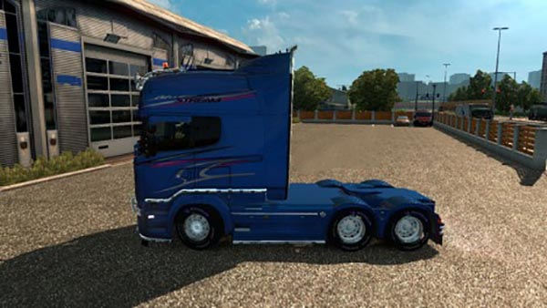 Scania RS RJL Blue Stream Skin + Interior