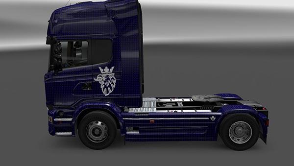 Scania Streamline Blue Carbon Skin