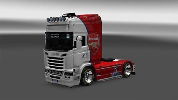 Scania Streamline FC Arsenal Skin
