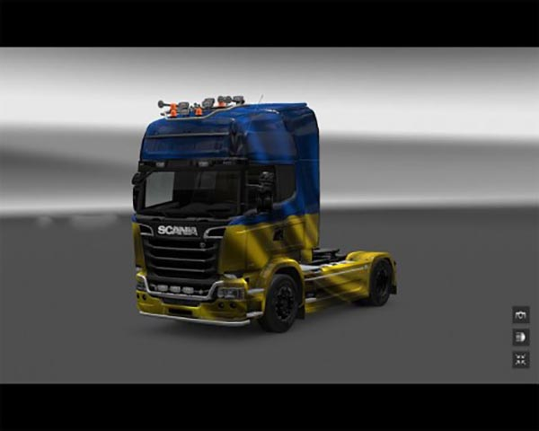 Scania Streamline Ukraine Flag Skin
