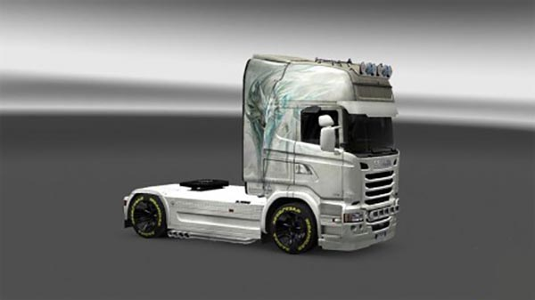 Skin White Fox for Scania Streamline
