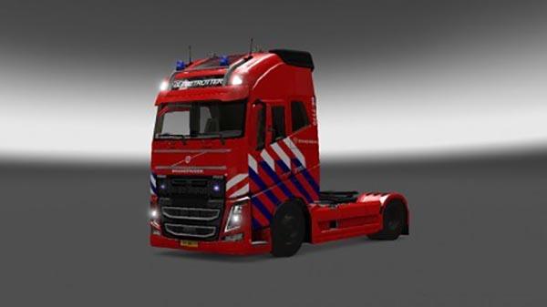 Volvo FH 2012 Dutch Firetruck Skin