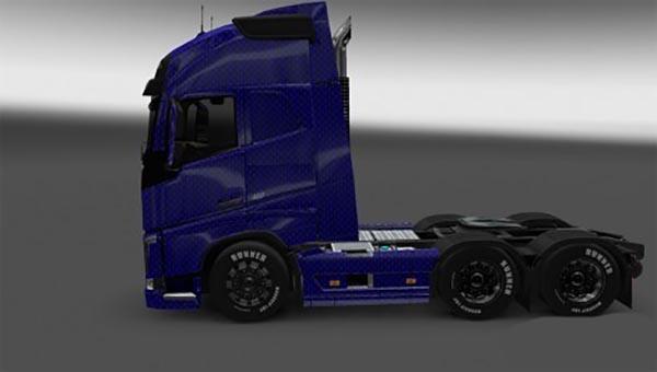 Volvo FH 2013 Blue Carbon Skin