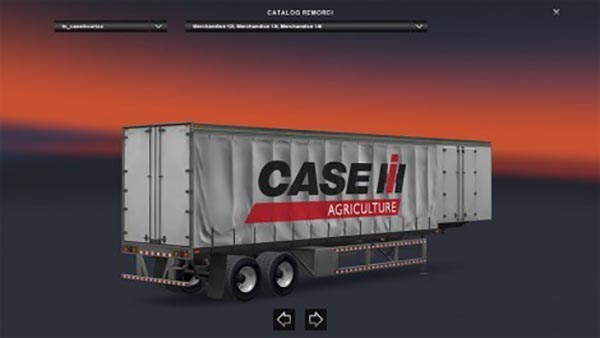 Case IH Curtain Trailer