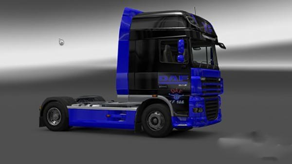 DAF XF 105 Black and Blue Skin
