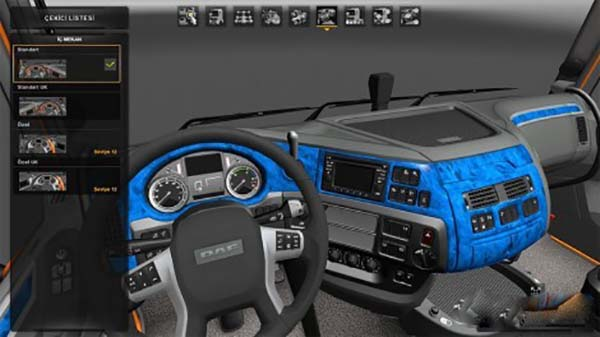 DAF XF euro6 blue
