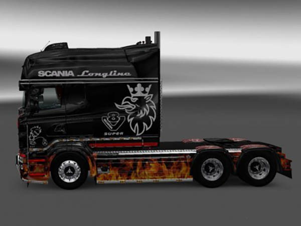 Fire Skin for RJL SCANIA R Longline