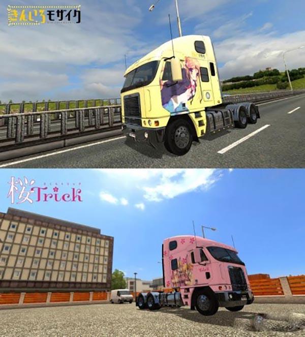 Freightliner Argosy Reworked Anime Skin Pack v1