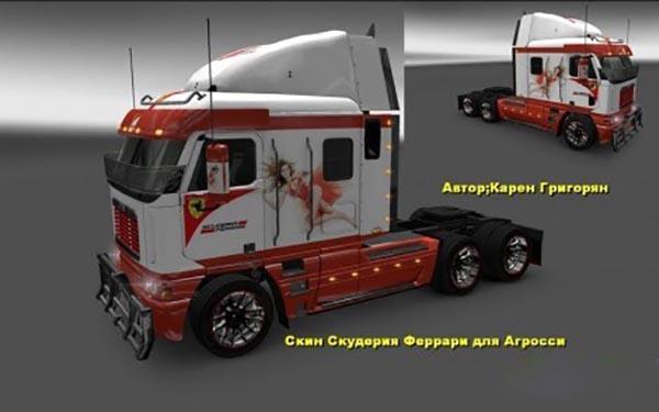 Freightliner Argosy Reworked v1.1 Scuderia Ferrari Skin