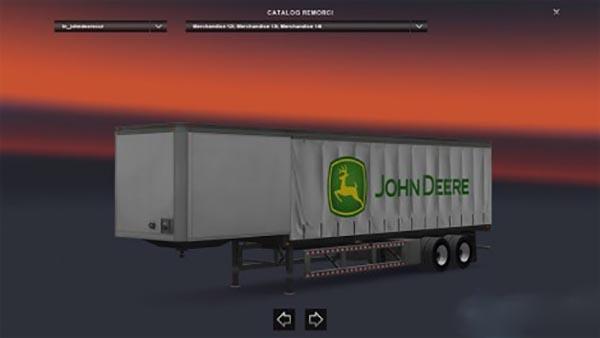 John Deere Curtain trailer