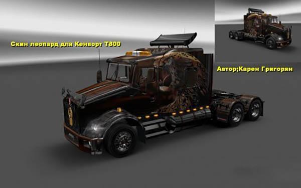 Kenworth T800 Leopard Skin