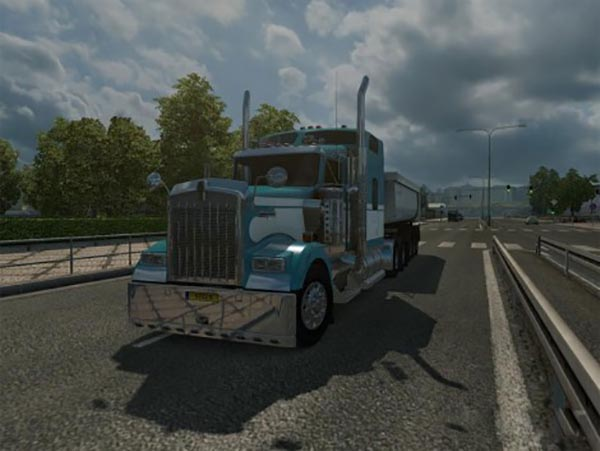 Kenworth w900 fixed mirror + wing