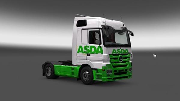 Mercedes Actros MP3 Asda Skin