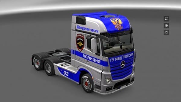 Mercedes Actros MP4 Police Skin