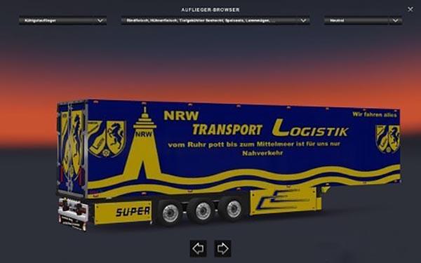 NRW Transport Logistik Trailer