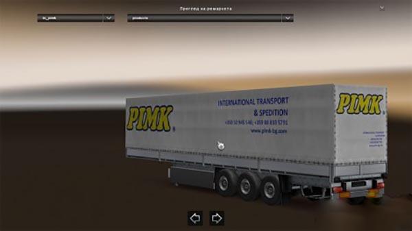 PIMK spedition trailer