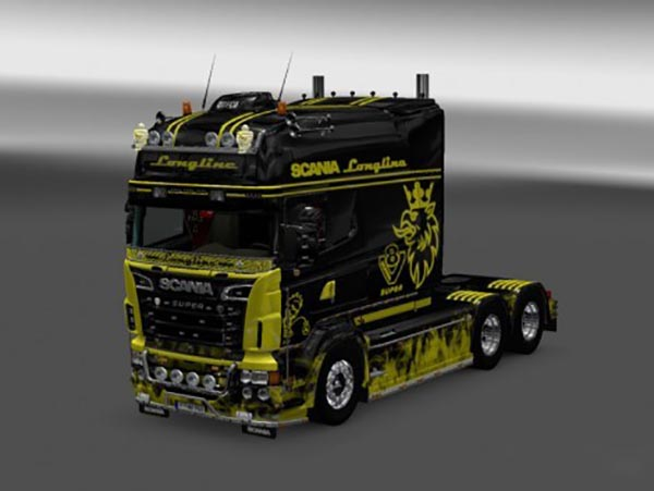 Paintable Flame Skin for RJL SCANIA R Longline 2.0