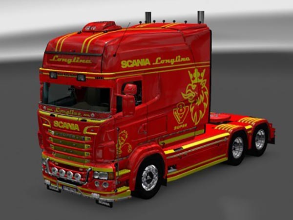 Paintable Stripes Skin for RJL SCANIA R Longline 2.0