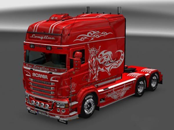 Paintable Tribull Skin for RJL SCANIA R Longline 2.0