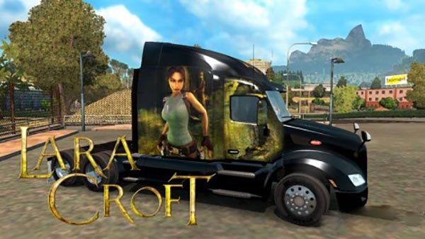 Peterbilt 579 Lara Croft Skin
