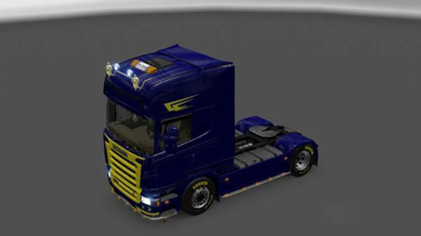 Scania Blue and Yellow Skin