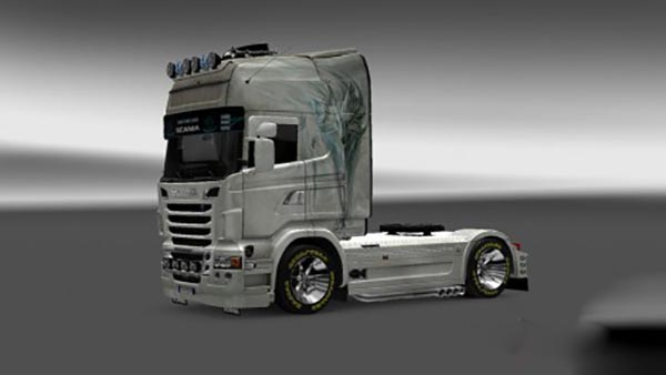 Scania R2009 White Fox Skin