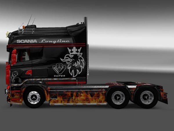 Scania RJL Longline Flame Skin